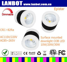 Epistar COB 2015 New Product 65*130mm 10w/20w/30w round led ceiling downlights surface mounted led lux ceiling light