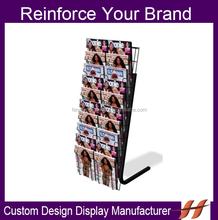 Free Standing Metal Magazine Display Stand/ Custom Metal Wire Magazine Display Rack/ OEM accepted