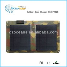 2015 hot sale 10W portable solar panel with 1500mA output/solar panel charger for iphone/ipad/camera