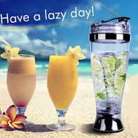 Best quality 400ml plastic self stirring cup protein shaker bottle chocolate milk cup