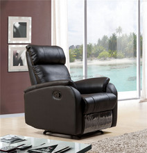 Black color geniune leather reclining chair/ cinema chair /rocking chair SF3766