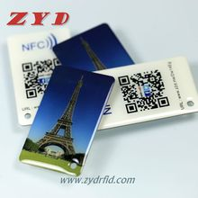 Cheap rfid nfc tag ntag213 with qr code for smart phone