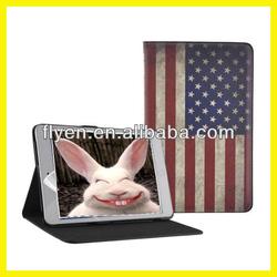 Retro Series Classtic Book Case for iPad 4/3/2/mini Folio PU Leather Smart Cover W/Stand National Flag USA