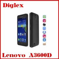 2015 new 4.5inch Lenovo A3600D MTK6582M+6290 Quad core 512MB RAM 4GB ROM Dual sim android 4.4 smartphone