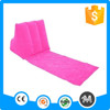 Popular design pvc flocking wedge back support outdoor inflatable pillow