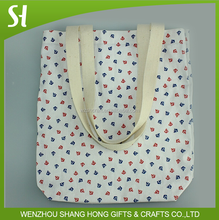 China cheap fancy pool party beach navy style holiday cotton tote bag