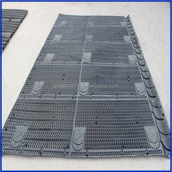 manufacture any length*1330mm Cooling Tower fill/Best sales /BAC black round PVC cooling tower fill supplier