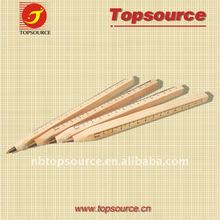 Promotional items Office Supply Wood Ball Pen with Ruler for gift