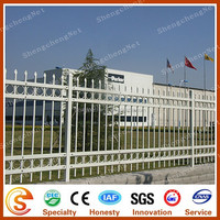 Factory supply european standard used white wrought iron fence