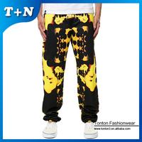 blue sublimation printing men custom jogger pants