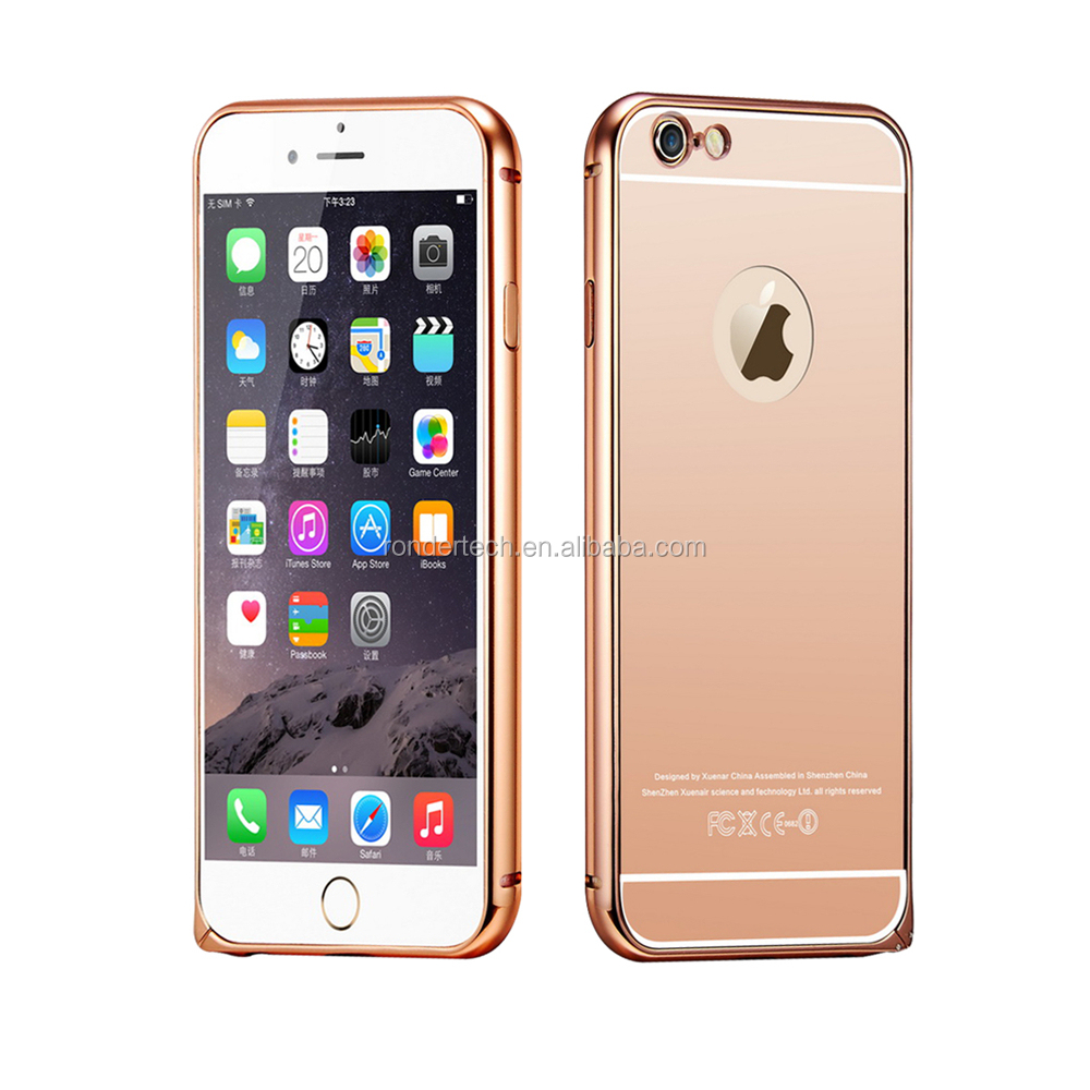 Mirror Case For Iphone 6 6plus,Rose Gold Anti Scratch Solid Metal Case ...