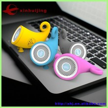 Portable wireless yellow and orange animal bluetooth speaker