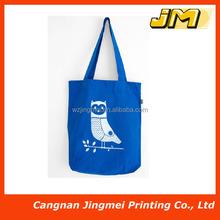 fashion royal blue color shopping cotton bag for girls