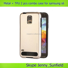 Metal+tpu 2 pcs combo case for samsung galaxy s6 g9200 ,for samsung s6 case combo