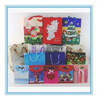 different designs paper christmas gift bag packaging