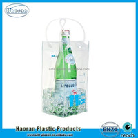 Cheap color clear PVC wine cooler plastic bag factory supply