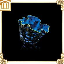 soffiato a mano in vetro di murano art deco stile ciotola di vetro composizioni floreali