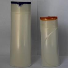400ml and 200ml white PET shampoo bottles with flip cap