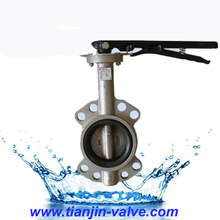 wafer butterfly valve whith handle lever
