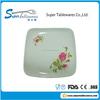 Melamine Square Plastic Plates White With Dessert