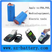 POS&PDA machines 18650 exclusive 3.7v 6000mAh li-ion battery pack