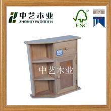 wall mount unfinished 2 drawer key storage