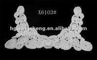 The newest U-open crochet soluble lace collar patches from yiwu manufacturer