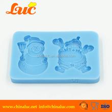 Food grade snow silicon fondant mold and santa claus christmas silicone cake mould
