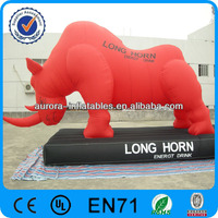 RED inflatable rhino model for advertising