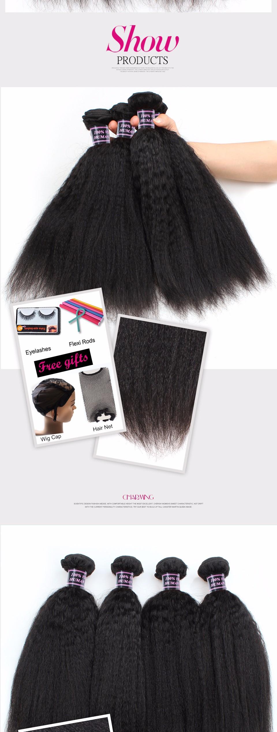 Full Cuticle Brazilian Human Hair In New York Kinky Straight Yaki