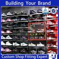 varejo de calçados display rack cremalheira de exposição de exposição de calçados de idéias