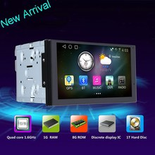 AL-5701 In Dash and CE Certification Customize Android 4.4.4 Touch Screen Universal Car DVD Player