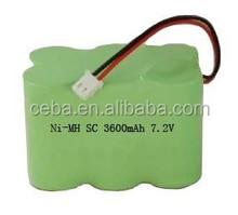 7.2v 2200mah nimh rechargeable battery pack