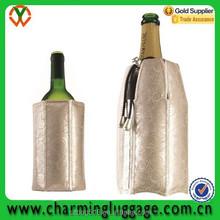 1.5L bottle plastic clear ice portable wine cooler bag for wine wholesale