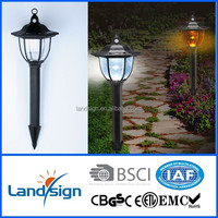 Ningbo solar garden lights factory XLTD-249D hexagonal led solar lantern light for garden/home/yard/lawn/path/street