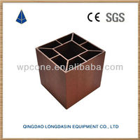 Outdoor wpc round wooden fence posts