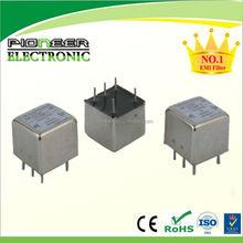 PE1000 120/250VAC 1A~10A PCB power filter din rail mount
