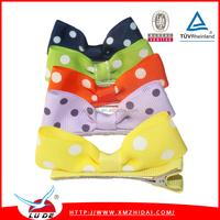2015 Korean Dots printed Grosgrain Ribbon Hair Clip wholesale