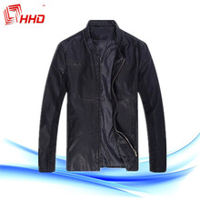 2015 Fashion PU Leather Garments With High Quality Men Leather Jacket