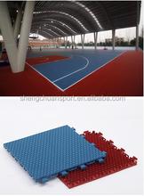 Outdoor plastic basketball court flooring