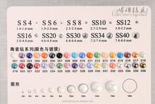 2015 wholesale new hotfix product 3mm 4mm 5mm 6mm 8mm round shape any colour flat back hotfix ceramic rhinestone.