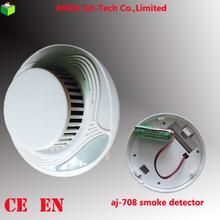 Precio de fábrica autónomo batería del detector de humos de alarma contra incendios con en14604 AJ-708
