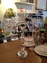 Clear Diamond Crystal Candle Holder Glass Candlestick For Table