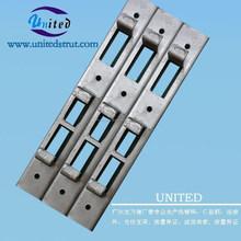 Galvanizado de hormigón de inserción canal / C strut caliente galvanizado /revestimiento de Zinc eléctrica strut canal
