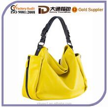 Yellow Women Fashion Genuine Leather Hand Bag Tote Hobo Bag