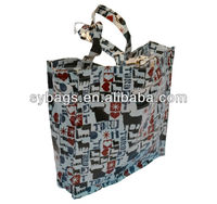 Custom PVC laminated cotton cheap recyclable shopping bags