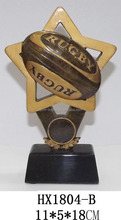 china manufacturer best selling resin football trophy craft