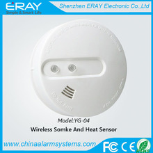 Humo inalámbrico y detector de calor ( YG-04 ) para home alarma antirrobo