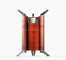 wood camp stove with fans for camping and outdoor