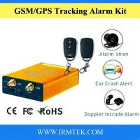 GSM GPRS Vehicle GPS Smart Alarm Tracker SOS Tracking Device with Hazard/siren, Speed Buzzer, Door Lock/Unlock, Doppler sensor